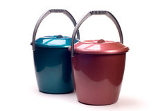 Plastic buckets Royalty Free Stock Photos