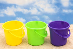 Plastic Buckets Stock Photography