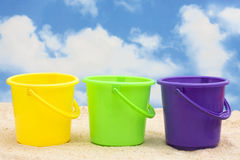 Plastic Buckets Stock Photography