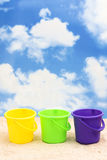 Plastic Buckets Royalty Free Stock Images