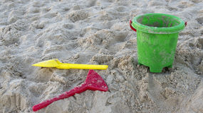 Plastic buckets and shovels Stock Image