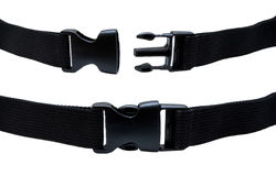 Plastic buckle isolated Royalty Free Stock Images