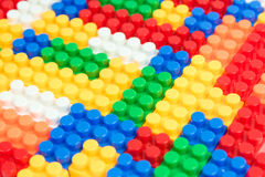 Plastic building block Stock Photos