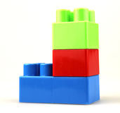 Plastic building blocks. Color Image royalty free stock images