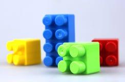 Plastic building blocks. Color Image royalty free stock photo