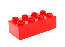 Plastic building blocks Royalty Free Stock Image