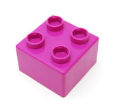 Plastic building blocks Stock Images