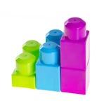 Plastic building blocks on background Stock Photo