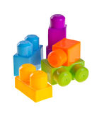 Plastic building blocks on background Royalty Free Stock Image