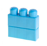 Plastic building blocks on background Royalty Free Stock Photos