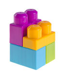 Plastic building blocks on background Royalty Free Stock Photography