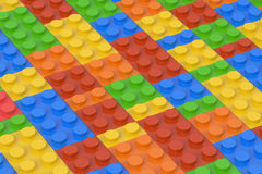 Plastic building blocks background, 3D rendering. Plastic building blocks background 3d Stock Photo