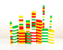 Plastic building blocks Royalty Free Stock Photos