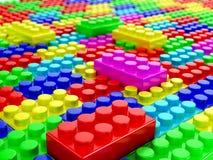 Plastic building blocks. 3d render Stock Photos