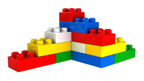 Plastic building blocks Royalty Free Stock Photography