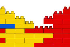 Plastic building blocks Stock Photography