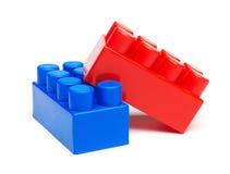 Plastic building blocks Stock Images