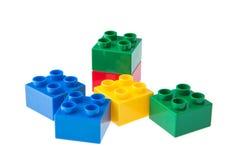 Plastic building blocks Royalty Free Stock Images