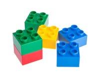 Plastic building blocks Stock Photography