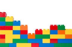 Plastic building blocks Stock Photos