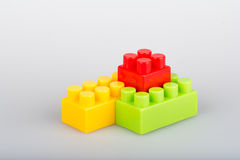 Plastic building blocks Stock Photos