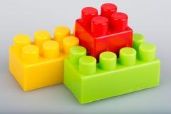 Plastic building blocks Royalty Free Stock Image