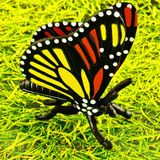Plastic butterfly Royalty Free Stock Images