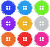 Plastic button isolated - colorful Stock Photos