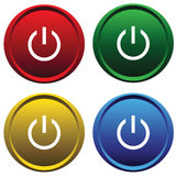 Plastic buttons Stock Images
