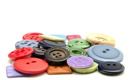 Plastic buttons Royalty Free Stock Photography