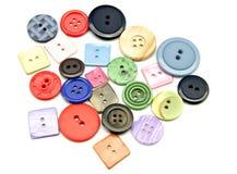 Plastic buttons stock photos