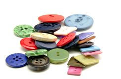 Plastic buttons stock photography