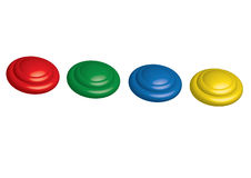 Plastic buttons Stock Photos