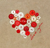 Plastic buttons in a heart shape Stock Photo