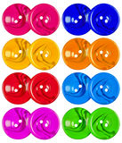 Plastic buttons isolated - colorful Royalty Free Stock Image
