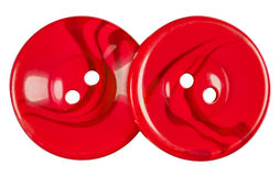 Plastic buttons isolated - red Stock Image
