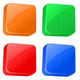 Plastic buttons set. In various color Royalty Free Stock Photos