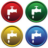 Plastic buttons with a water tap Stock Photos