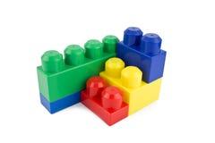 Plastic byggnadsblock Arkivbild