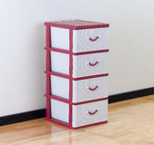 Plastic cabinet with drawers Stock Image