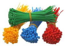 Plastic cable ties Stock Image