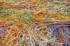Plastic from cables 6 Royalty Free Stock Images