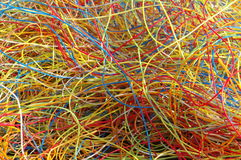 Plastic from cables Stock Photography