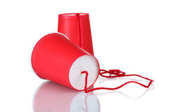 Plastic can phone Royalty Free Stock Images