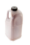 Plastic canister with chocolate milk Stock Image