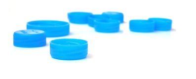 Plastic caps 02 Stock Images