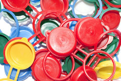 Plastic caps Royalty Free Stock Photography