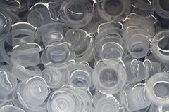 Plastic caps Stock Images
