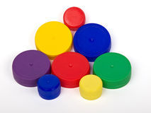 Plastic caps Stock Photo