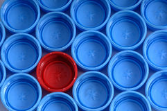 Plastic caps. Group of plastic caps as a background Royalty Free Stock Image
